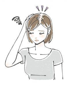 薄毛の女性