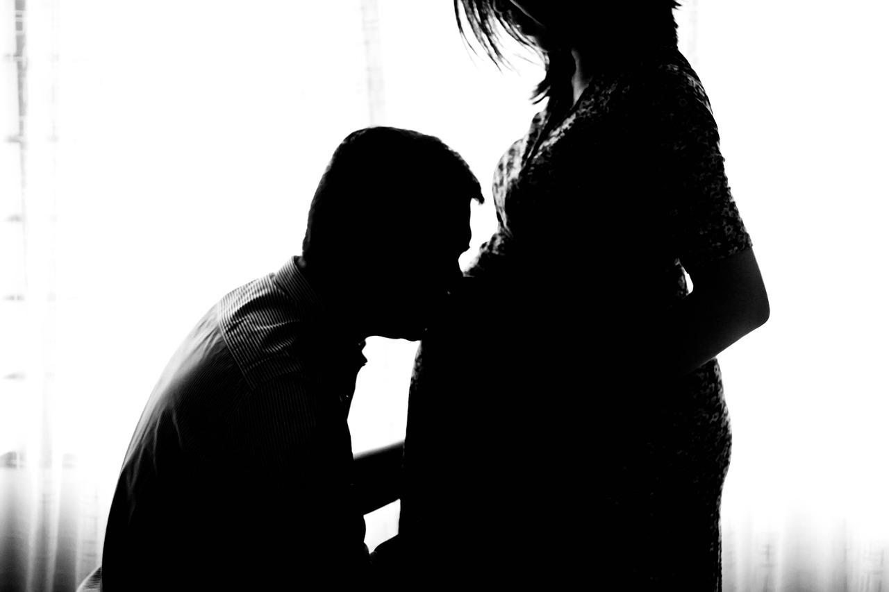 妊婦と旦那